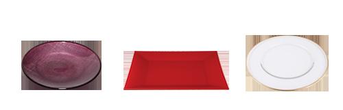 Alquiler : Platos de presentación y bajos platos