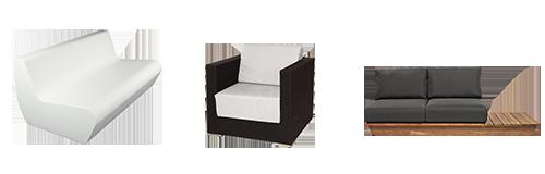 Alquiler : Mobiliario lounge y sofás