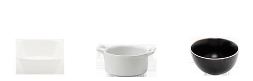 Alquiler : Vasitos y pequeños recipientes en porcelana