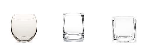 Alquiler : Vasitos y pequeños recipientes de cristal