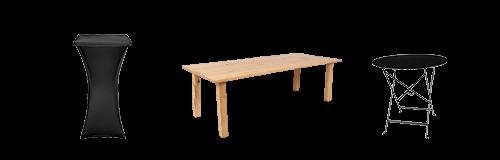 Alquiler : Mesas y mesas cóctel