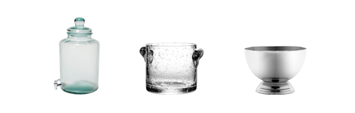 Alquiler : Cubiteras y bol para ponche