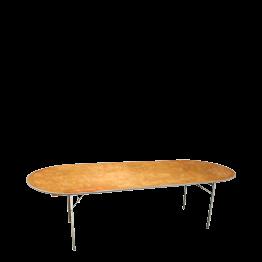 Mesa oval 100 x 250 cm.