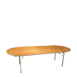 Mesa oval 100 x 200 cm.