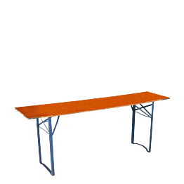 Mesa rectangular 50 x 200 cm.
