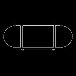Mesa ovalada de 150 x 700 cm