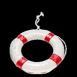 Boya salvavidas blanco y rojoØ 56 cm