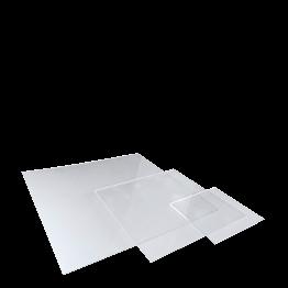 Pirámide de placas de plexiglás