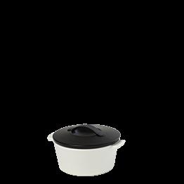 Cazuela negra y blanca Ø 10 cm 20 cl