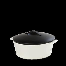 Cazuela negra y blanca Ø 19 cm 150 cl