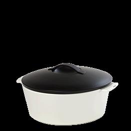 Cazuela negra y blanca Ø 26 cm 340 cl