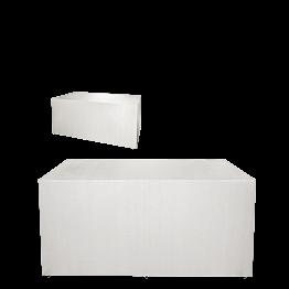 "Buffet plegable con funda blanca ""4 caras""  100 x 200 cm H 91 cm"