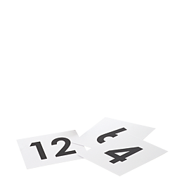 Número de mesa cuadrado del 1 al 150