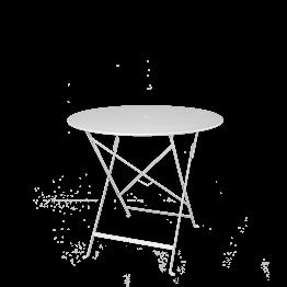 Mesa Trocadero redonda blanca  Ø 77 cm