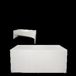 "Buffet plegable con funda blanca ""3 caras"" 80 x 200 cm"