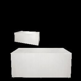 "Buffet plegable con funda blanca ""4 caras"" 80 x 200 cm"