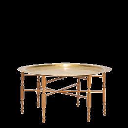 Mesa baja redonda dorada  Ø 89 Alt 48 cm