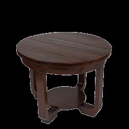Mesa baja redonda en madera   Ø 60 Alt 45 cm