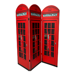 Biombo cabina telefónica británica 150 x 170 cm