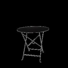 Mesa Trocadero redonda negra Ø 77 cm