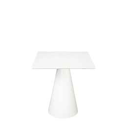 Mesa Icono cuadrada blanca 69 x 69 cm Alt.H 72 cm