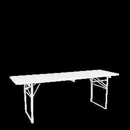 Mesa Kermesse blanca 70 x 220 cm Alt.78 cm