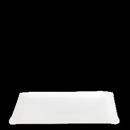 Bandeja de mano Soft blanca 24 x 18 cm