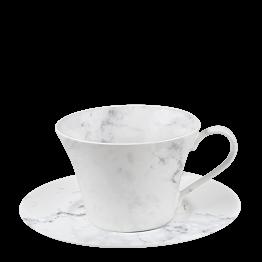 Taza y plato de té Mármol 25 cl