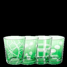 Vaso Mélodie verde Ø 8 cm Alt. 9 cm