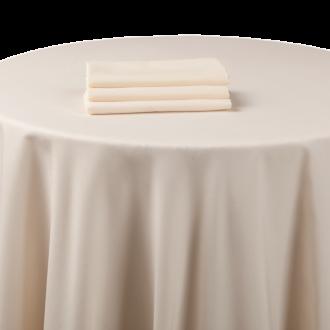 Mantel chintz beige 270 x 270 cm ignífugo M1