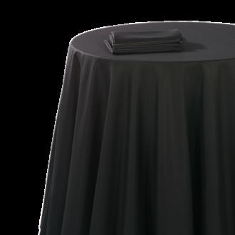 Mantel chintz negro 180 x 180 cm ignífugo M1