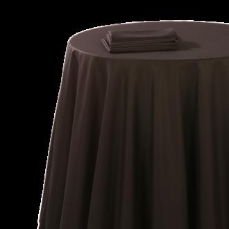 Mantel chintz negro 240 x 240 cm ignífugo M1