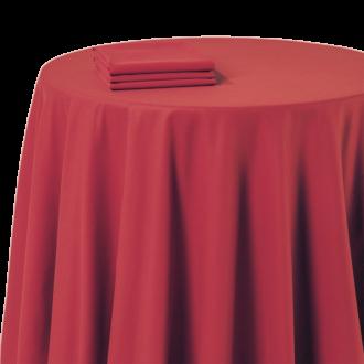 Mantel chintz rojo 270 x 270 cm ignífugo M1