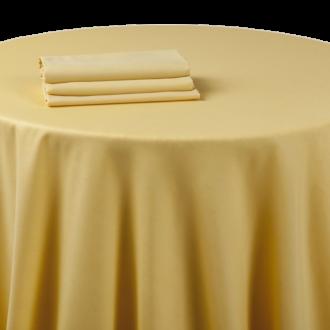Mantel chintz amarillo tornasolado 270 x 270 cm.