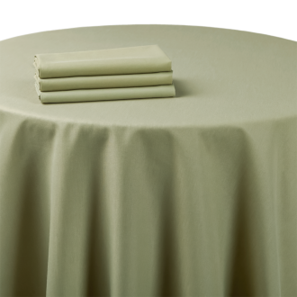 Mantel chintz verde almendra 270 x 600 cm.