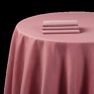 Mantel chintz rosa 240 x 240 cm.