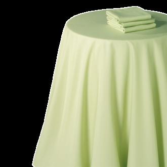 Mantel chintz pistacho 210 x 210 cm.