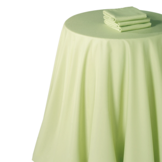 Mantel chintz pistacho 240 x 240 cm.