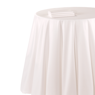 Nappe chintz blanc 210 x 210 cm ignifugée M1