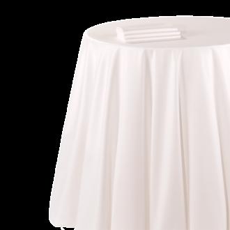 Mantel chintz blanco 290 x 600 cm. ignífugo M1