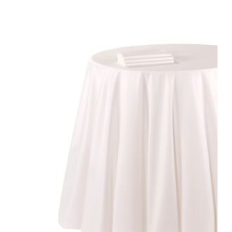 Chemin de table chintz blanc 50 x 270 cm ignifugé M1