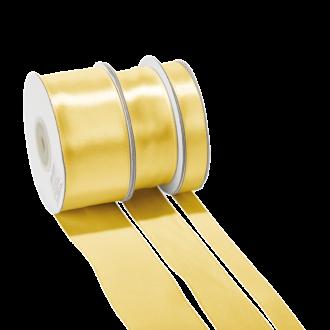 Cinta de satén Oro - ancho 25 mm - Rollo de 25 m