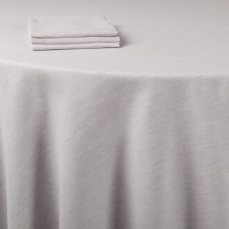 Mantel lino gris 290 x 290 cm.
