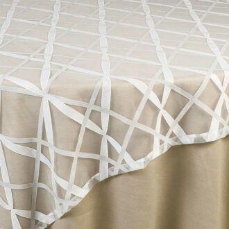 Cubre-mantel cintas 210 x 210 cm