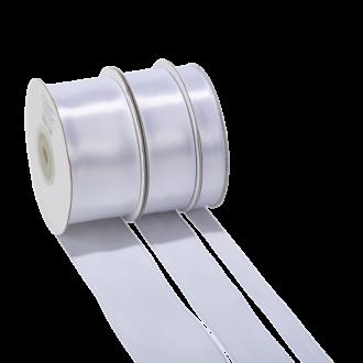 Cinta de satén blanco - ancho 12 mm - Rollo de 25 m