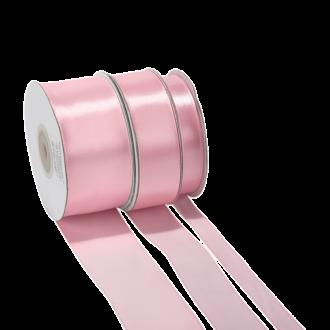 Cinta de satén rosa - ancho 12 mm - Rollo de 25 m