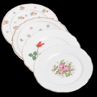 Plato pequeño Vintage con flores