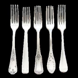 Tenedor de mesa Vintage plata