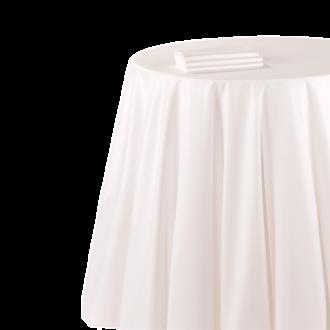 Nappe chintz blanc 310 x 310 cm ignifugée M1