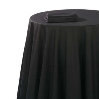 Mantel chintz negro 310 x 310 cm ignífugo M1